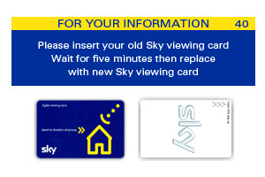 Sky Card Replacement