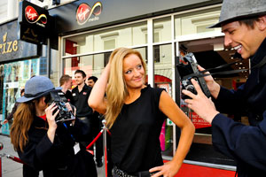 Lucy Davis (The Office) at Virgin Media's York Store
