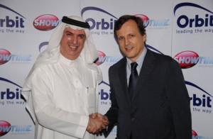 Samir Abdulhadi (left), President & CEO of Orbit Group and Mr Marc-Antoine d'Halluin CEO of the merged operation.