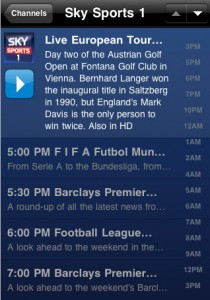 Sky Sports on the iPhone