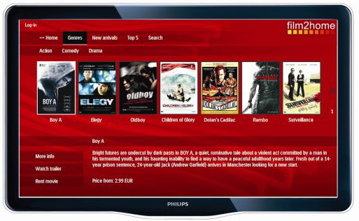 philips net tv to offer movies. Black Bedroom Furniture Sets. Home Design Ideas