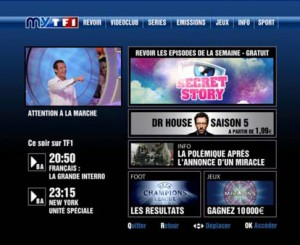 ... now have access to MYTF1, including the dominant IPTV provider Orange