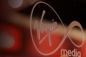 Virgin logo glass