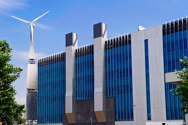 Sky Studios wind turbine