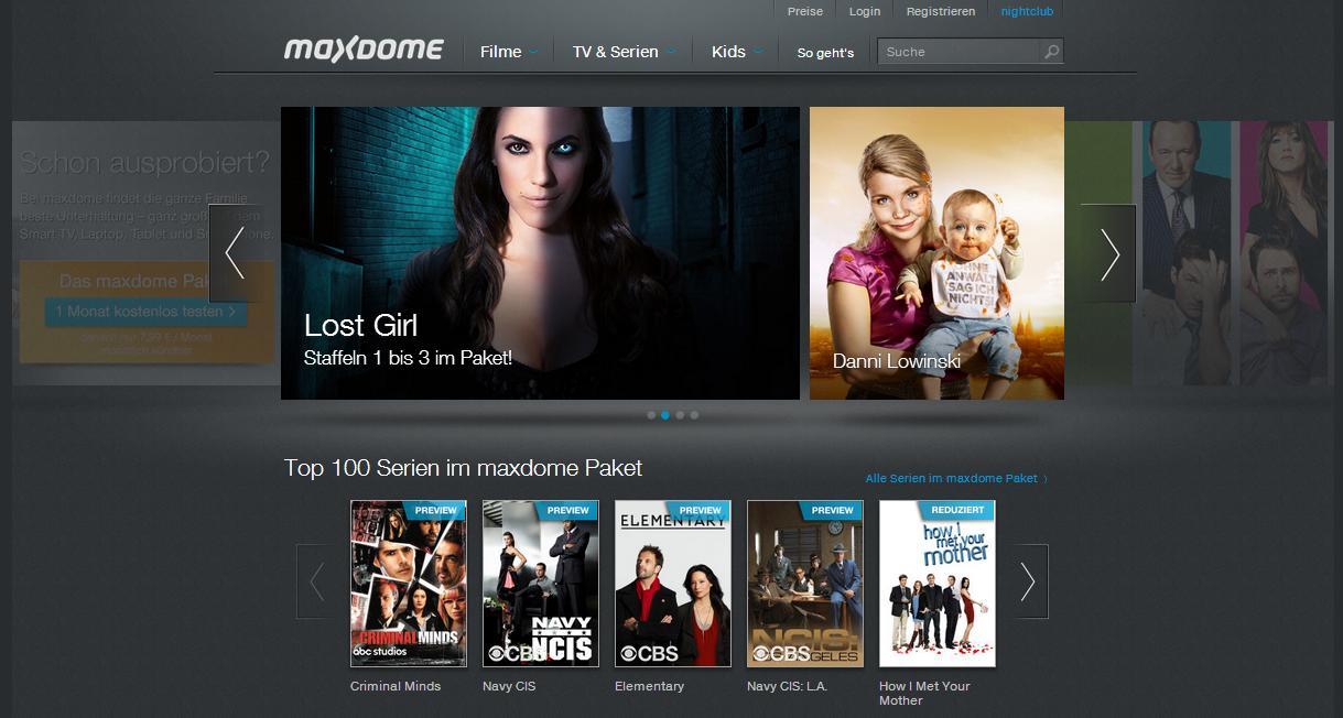 Netflix Maxdome