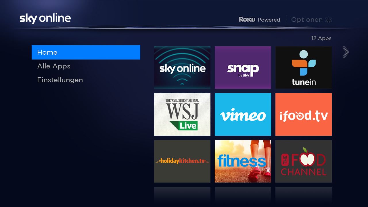 Sky deutschland rolls out roku streaming box Home tv channel