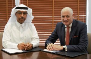 Sam Barnett (MBC Group CEO) & Khalid Balkheyour (ARABSAT CEO) (2)