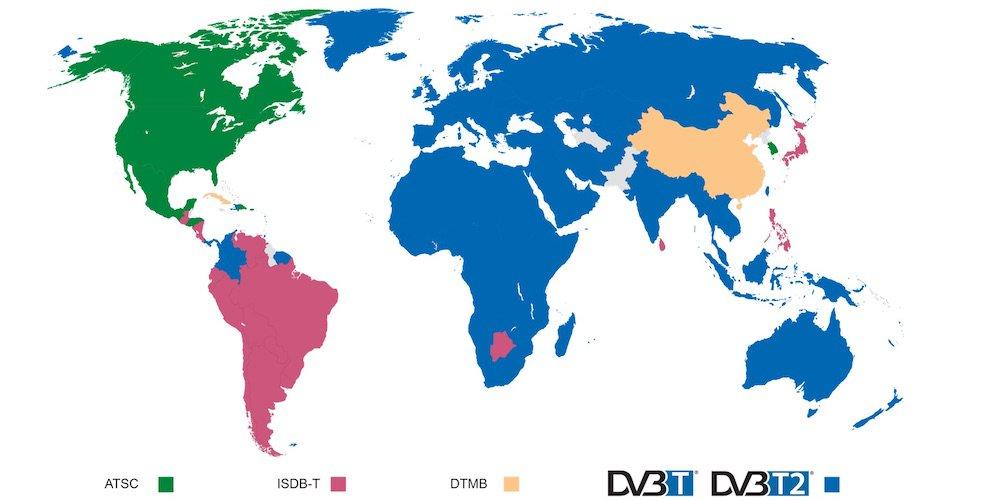 dvb-t_dvbt2_worldwide
