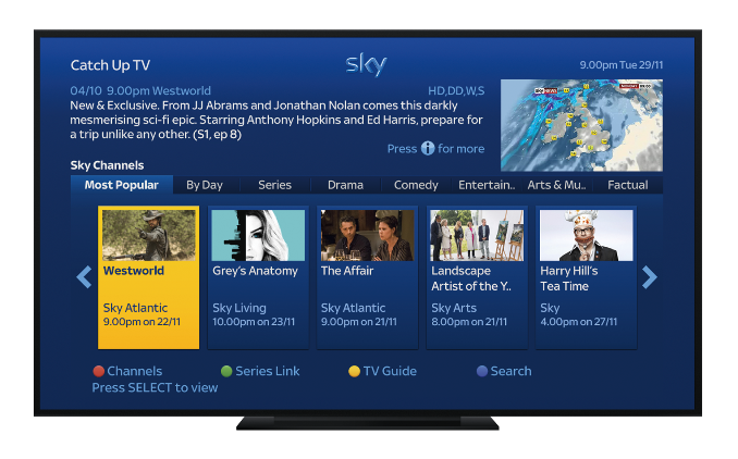 Sky+ Catch-up TV