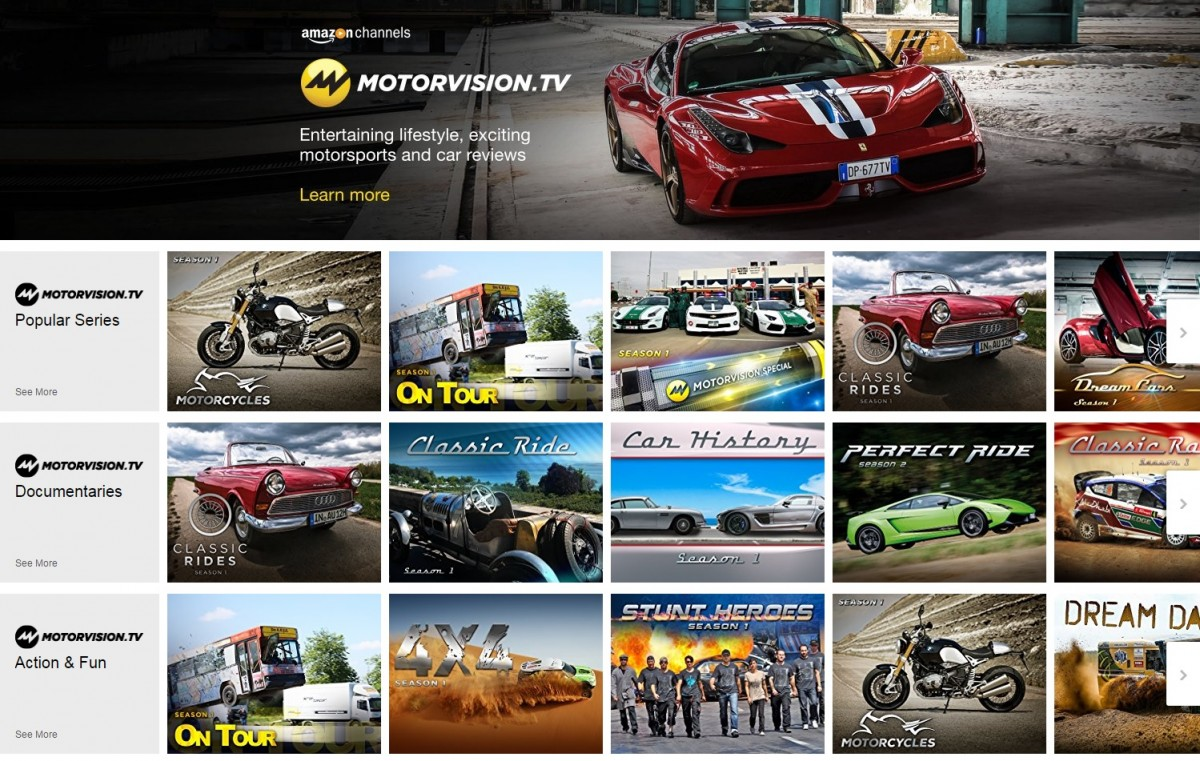 Motorvision launches streaming service on amazon for Motors tv live stream