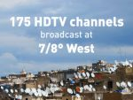 Eutelsat's 7/8° West position hosts 175 HD channels