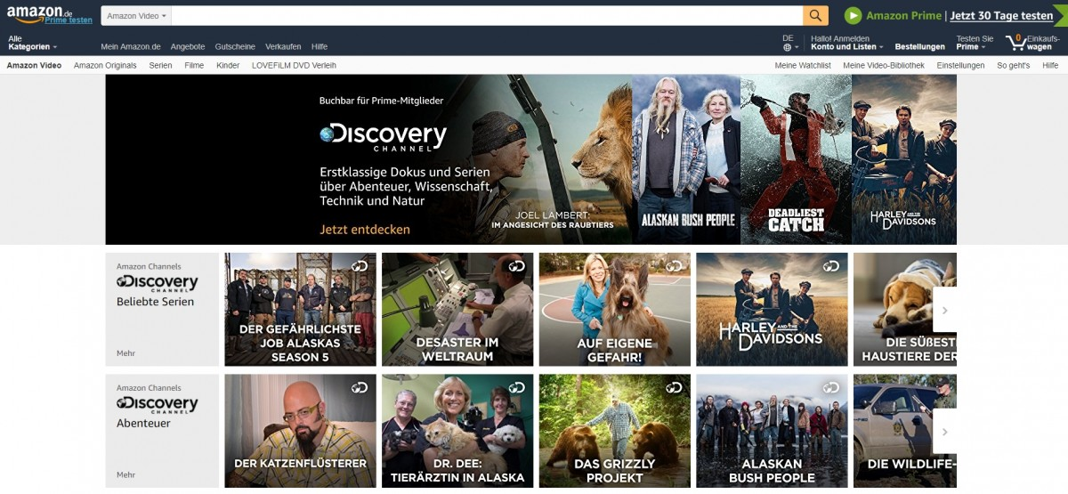 Amazon Discovery Channel