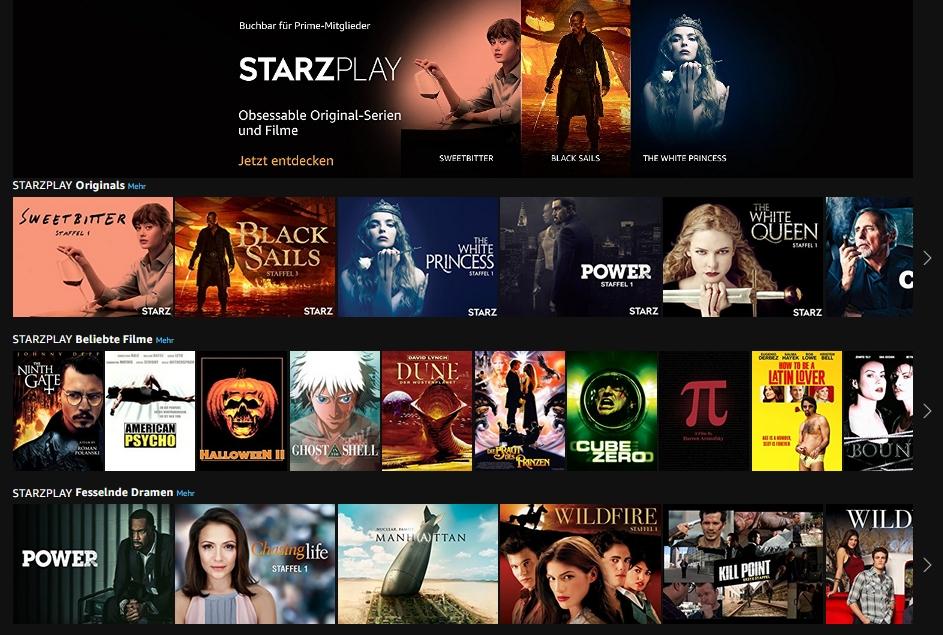 Amazon Starzplay